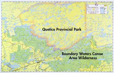 E-27: Oversize Minnesota-Canadian Wilderness - Fisher Maps