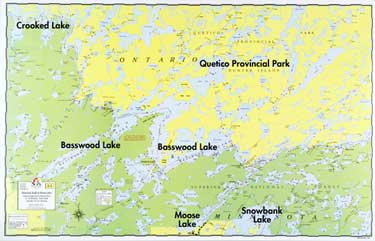 E-3: Bwood Lake, Knife Lake, Moose Lake - Fisher Maps on