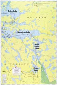 E-1: Crane Lake, Sand Point Lake, Namakan Lake - Fisher Maps on