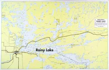 E 11 Rainy Lake Boaters Map