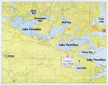 F-1: West Lake Vermilion, Trout Lake, Lost Lake - Fisher Maps