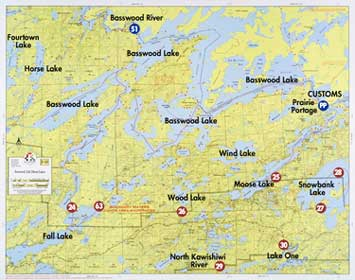 F Basswood Lake Fall Lake Moose Lake Fisher Maps - Us map showing boundary waters minnesota