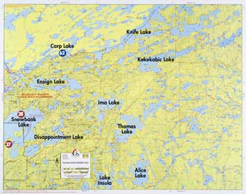 F Snowbank Lake Knife Lake Kekekabic Lake Fisher Maps - Us map showing boundary waters minnesota
