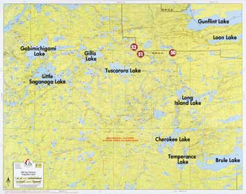F 12 Little Saganaga Lake Tuscarora Lake Temperance Lake