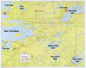 Lake Vermillion Minnesota Map.F 2 Bear Head Park Eagle S Nest Lake East Lake Vermilion Fisher