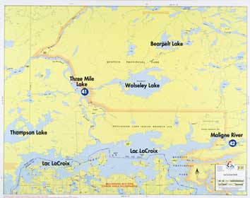 La On Us Map.F 23 Lac La Croix North Fisher Maps