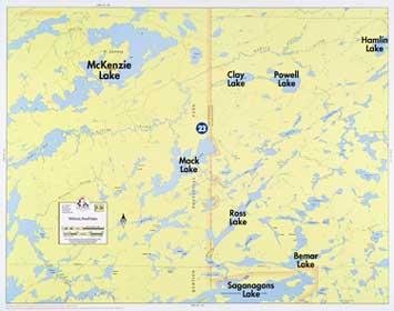 F-26: McKenzie Lake, Powell Lake - Fisher Maps