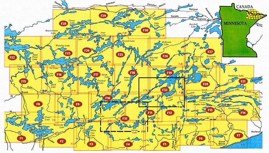 F Series Maps Fisher Maps - Us map showing boundary waters minnesota